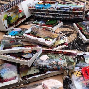 Objet Plastik cassette-sized pieces - photo by Rik Leipold